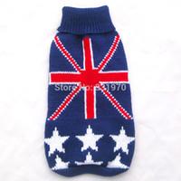 bandanas uk - Dog sweater Coat UK Flag amp Stars Pet Jacket Clothes Jumper sizes available
