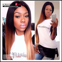 Cheap Hot selling! good quality beautiful two tone virgin human hair wig 2T straight lace front wig full lace wigs for black woman
