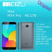 Wholesale Original Meizu MX4 MX MX4 PRO Octa Core G FDD LTE WCDMA GB Ram MTK flyme4 From Android OS MP Mobile phone