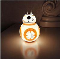 Precio de Polivinílico-Star Wars 7 BB 8 bb8 figura Tumbler de juguete <b>Roly Poly</b> luz de la noche USB iluminación de la noche