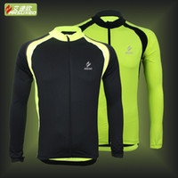 Wholesale 2015new spring autumn cycling bike bicycle long sleeves compression fitness jersey shirt quick drying tight fitting Jerseys male
