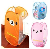 Wholesale New Arrival Dirty Clothes Children Toys Storage Bag Cartoon Folding Laundry Bucket Basket Polyester Size CM JH37