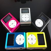 Wholesale Brand new Metal clip MP3 Player Small screen Clip MP3 Mini MP3 with FM radio