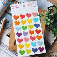 Wholesale pack Poster Wall Stickers Home Decor Funny Korea Sent Straight Three dimensional Decorative Stickers Epoxy Big Hearts