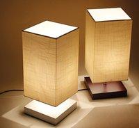 Wholesale Modern Table Lamp Wood Base Linen Lampshade Dimmer Living room Bedroom Luminaire E27 V