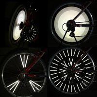 Wholesale 12pcs ABS Reflective Coating Film mm Bicycle Wheel Reflective Spoke Bike Cycling Wheel Reflector Warning Strips Clip