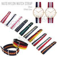 Wholesale 20mm Color Bracelet ST Fashion Men Military Nylon Replacement Watch Strap Band