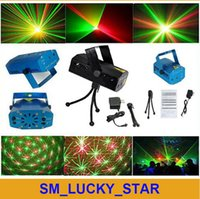 christmas mini lights - laser projector christmas lights Stage Lighting Mini Green Red Laser Stage Light Black blue Wedding Party Disco Dance Floor Lights