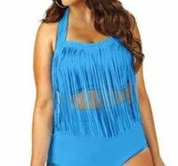 20pcs 8 colori riempito sexy su Plus Size i bikini a vita alta Bikini 2015 nuove donne sexy bikini Swimwear dei costumi da bagno nappe Bikini