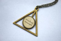 american manage - 10PCS Harry Potter Mischief Managed Marauder s Map in a Deathly Hallows Pendant