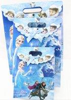 Wholesale New Frozen Cartoon Paper Handbag Shopping Portable Bag Christmas Gift Bags Carrying Handbag Eco Friendly Bag