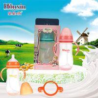 Wholesale King Star e newborn baby milk bottle with handle Straw temperature PP wide caliber anti flatulence bottle ml