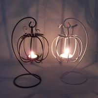 Wholesale new H pumpkin lantern Iron Candlestick Home Decoration creative wedding gifts European sources