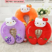 Wholesale Hello kitty fruit U shaped pillow Toy