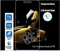 Para la pantalla Huawei Ascend P8 P7 vidrio templado de guardia película protectora sin paquete