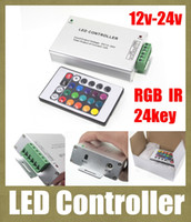 Wholesale rgb led controller key ir remote control mini rgb control box aluminum ase for led strip wireless rf remote control DT008