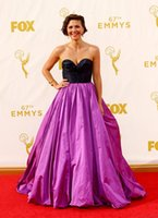 Wholesale Taffeta th Emmys Award Red Carpet Dresses Sexy Sweetheart Sleeveless Lace Up Evening Dresses A Line Sweep Train