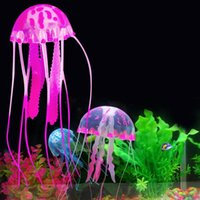 Wholesale New fashion colorful S M L size artificial jellyfish plastic design aquarium decoration no pllution DIY J1156