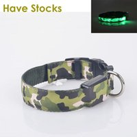 led glow products - LED Dog Collar For Pet Dogs Light Leads Camouflage Barrack Products For Pet Nylon Glowing Dog Collar A5