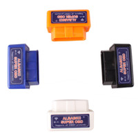 Wholesale Mini WiFi ELM327 OBD2 OBDII Car Auto Bluetooth Scan Tool With CD For ANDROID APPLE iPOD order lt no track