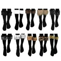 fluffy boot - Fashion Novel Chosen Women Winter Warm Fluffy Comfy Furry Faux Fur Boot Cuff Leg Warmers Boot Toppers Sock Accessories