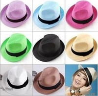 Wholesale 2015 Summer Hats Fashion New Style Colorful Outdoors Straw Hats Women And Men Hats