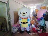 Wholesale 2015 New mascot Customized couples costumes bear doll White dress candy female bear A snowman cartoon doll summer dress