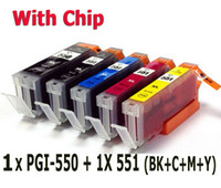 Wholesale 5 ink cartridge set compatible PGI BK CLI for canon Printer Pixma MX925 MX725 MG5450 MG5550 MG7150 MG6450 IP8750