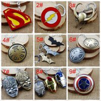 Wholesale Hot Sale Avengers Superhero Keychains Captain America Flashman Superman Batman Ironman Spiderman Trans Former Autobot Key Chains