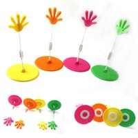 adjustable sign holder - 10pack colored hand POP adjustable clip plastic POP label display clip sign stand holder w clip price tag display racks holder
