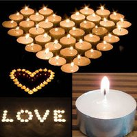 Wholesale HOT SALE Romantic White Tealight Flame Candles Wedding Birthday Party Flicker Tea Candles Light Christmas Festival Decoration