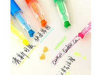 Wholesale New Arrival Fruit Flavor Cute Solid Jelly Candy Color Highlighter Marker Pen Graffiti Color