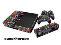 Wholesale Superhero Full body Decal Skin Sticker Protector For Microsoft For Xbox one Console Controller Anti Dust Accessories Video