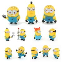Wholesale Cute Anime Despicable Me minions Movie Character Action Figures Doll Toys Juguetes Brinquedos Set of