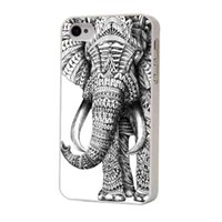 apple elephant - Aztec Elephant White Side Hard Plastic Mobile Phone Case Cover For iPhone S S C