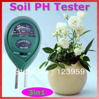 soil ph moisture meter - 3 in1 Plant Flowers Soil PH Tester Moisture Light Meter hydroponics Analyzer retail