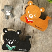 bearing tape - Vintage Cute Bear design DIY Multifunction Manual Wooden Adhesive tape holder set with tape Ornament dandys