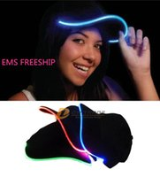 led hats - EMS freeship Light up Adult Ball Hat Cap LED Light up Hat Hands Ornament Hats Dancing Party Hat stage Caps Christmas Party Hat J120904