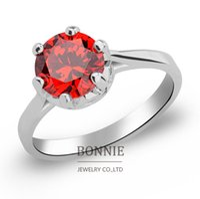 Wholesale Fashion women gemstone ring European stainless steel crystal diamond rings women silver wedding rings jewelry SR0656