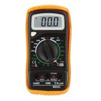 Wholesale M820C Portable Digital Multimeter DMM Ammeter Voltmeter Ohmmeter amp hFE Tester w Temperature Test