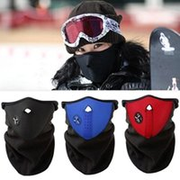 Wholesale Bicycle Cycling Motorcycle Face Mask Veil Winter Sports Ski Snowboard Hood Wind Stopper Cap Headwear Thermal Masks T116 salebags