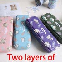 Cheap Wholesale-free shipping 2015 Fashion cute pencil case, PuWei check meters push pencil case