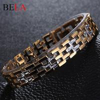 Wholesale Men Stainless Steel Bracelet K Gold Plated Chain Bracelets Men Jewelry Accessories Wristband Men Bracelets MS4058
