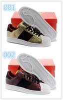 Wholesale newest women superstar gold sneakers brand shell head year of the horse shoes fashion brand casual run shoes design skate board shoes