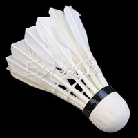 Wholesale 3X Shuttlecocks Sport Training White Goose Feather Badminton Ball Game
