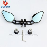 universal bar end motorcycle mirrors - FULL DEGREE ADJUSTABILITY quot Pair Universal Motorcycle Motorbike Bike Black Bar End bicycle rearview mirror bike rearview mirror