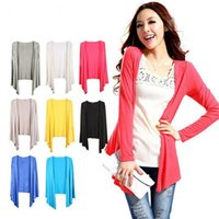 Wholesale Long Sleeved Dress Thin Transparent Candy Colored Sunscreen Clothing