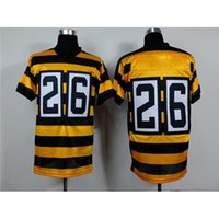 throwback jerseys - Top Yellow and Black Stripes Seasons Throwback American Football Jerseys Best Bumblebee Football Apparels Comfortable Sports Jerseys
