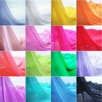 Cheap Dress Fabric 1.5m Wide Thick 100% Polyester Chiffon Fabric 31 Colors 10m lot 50D*70D for Silk Skirt Georgette Curtain#BL002