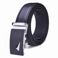 Wholesale Men New Brand Fashion Business Luxury Belts Second Floor Cowhide Automatic Alloy Buckle Design Leather Belts Good Quality
